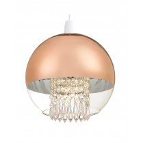 Endon Boston Copper and Crystal Pendant Shade NE-BOSTON-CO