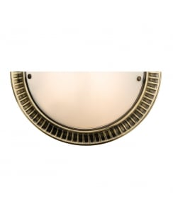 Endon Brahm Traditional Brass Decorative Wall Light 61236