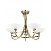 Endon Cagney 5 Light Traditional Semi-Flush Fitting CAGNEY-5AB