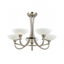Endon Cagney 5 Light Traditional Semi-Flush Fitting CAGNEY-5SC
