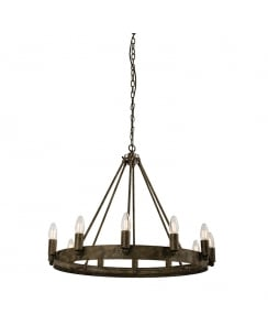 Endon Chevalier Modern Brass Chandelier 61026