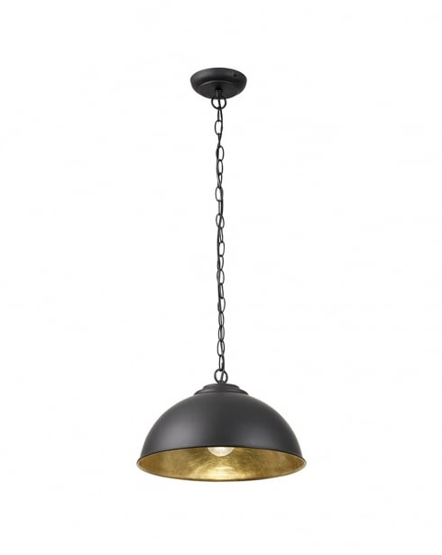 Endon Colman Single Light Modern Pendant Light COLMAN-BL
