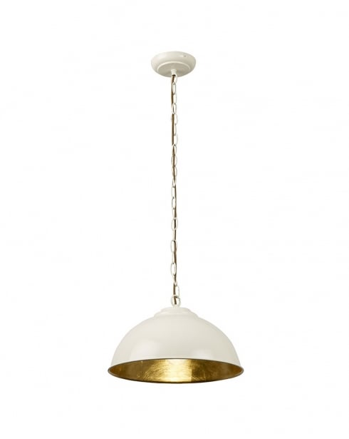 Endon Colman Single Light Modern Pendant Light COLMAN-CR