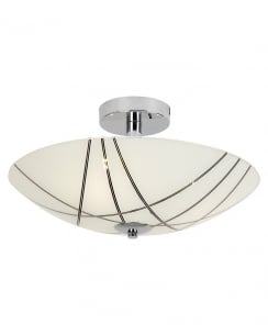 Endon Crosby 3 Light Modern Semi-Flush Fitting CROSBY-3FCH