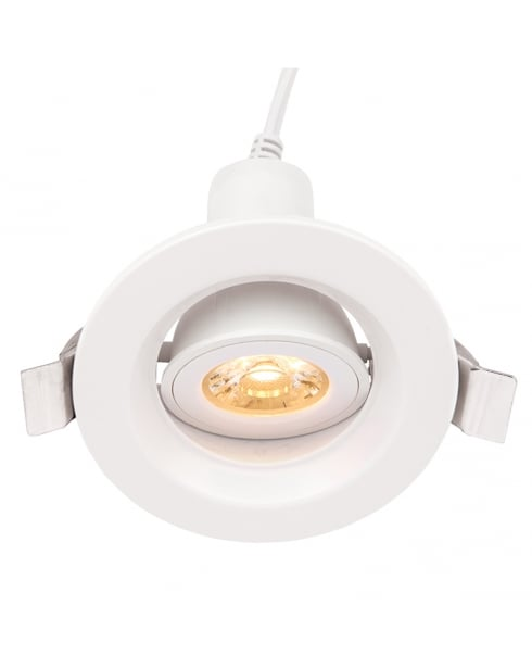 Endon Defender Modern White Recessed Ceiling Light 61508