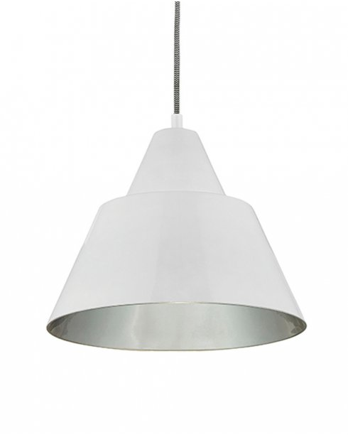 Endon Lukas White Pendant Light With Silver Inner LUKAS WH
