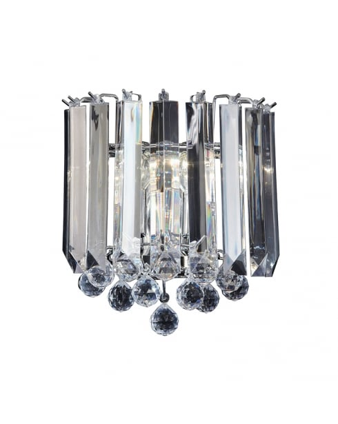 Endon Fargo Crystal Chrome Decorative Wall Light FARGO-WBCH