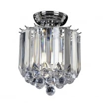 Endon Fargo Crystal Chrome Flush Ceiling Fitting FARGO-CH