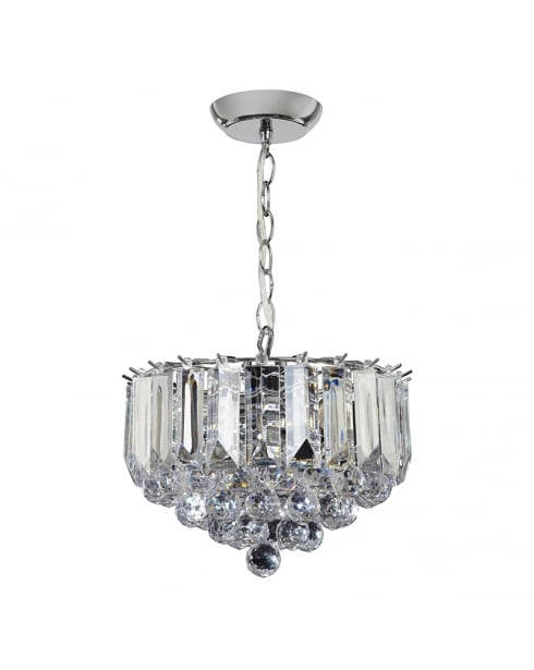 Endon Fargo Crystal Chrome Pendant Light FARGO-12CH