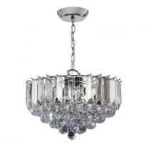 Endon Fargo Crystal Chrome Pendant Light FARGO-14CH