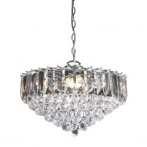 Endon Fargo Crystal Chrome Pendant Light FARGO-18CH