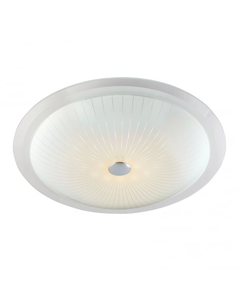 Endon Fretton Modern White Flush Ceiling Fitting 61225