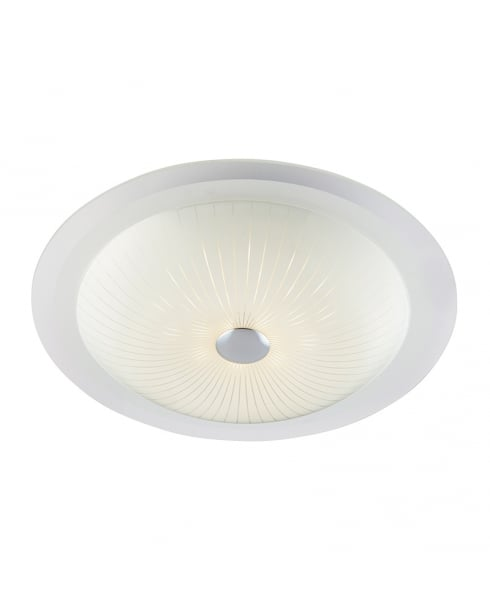 Endon Fretton Modern White Flush Ceiling Fitting 61229