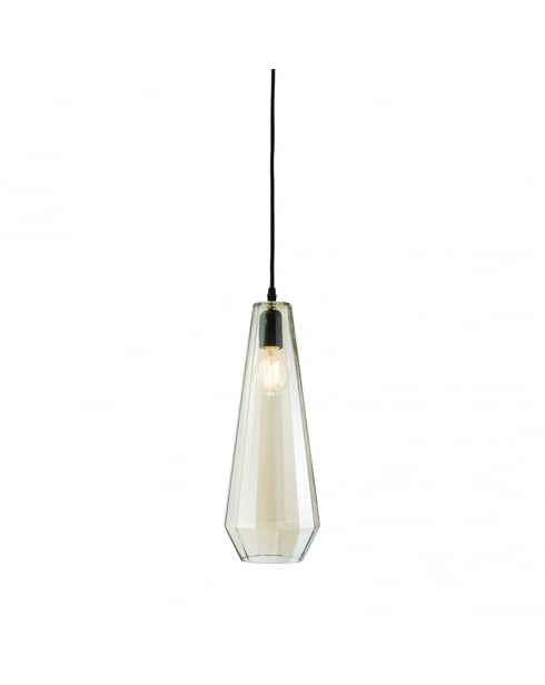 Endon Gibson Modern Black Pendant Light 61501
