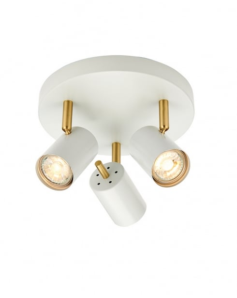 Endon Gull Modern White Spotlight Fitting 59932