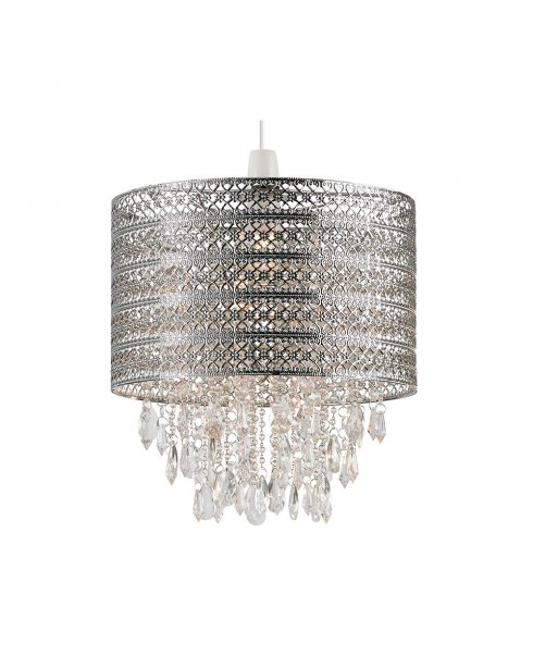 Endon Harewood Chrome and Crystal Pendant Shade NE-HAREWOOD-CH