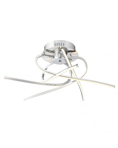 Endon Hemingway Modern Chrome Semi-Flush Light 61790