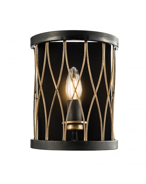 Endon Heston Modern Brass Decorative Wall Light 61499