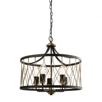 Endon Heston Modern Brass Multi-Arm Pendant 61498