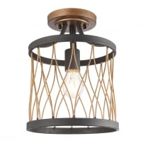 Endon Heston Modern Brass Semi-Flush Light 61497
