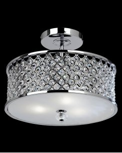 Endon Hudson 3 Light Crystal Semi-Flush Fitting HUDSON-3CH