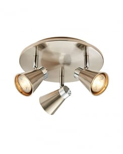 Endon Hyde Modern Nickel Spotlight Fitting With LED Lit Backplate 59941