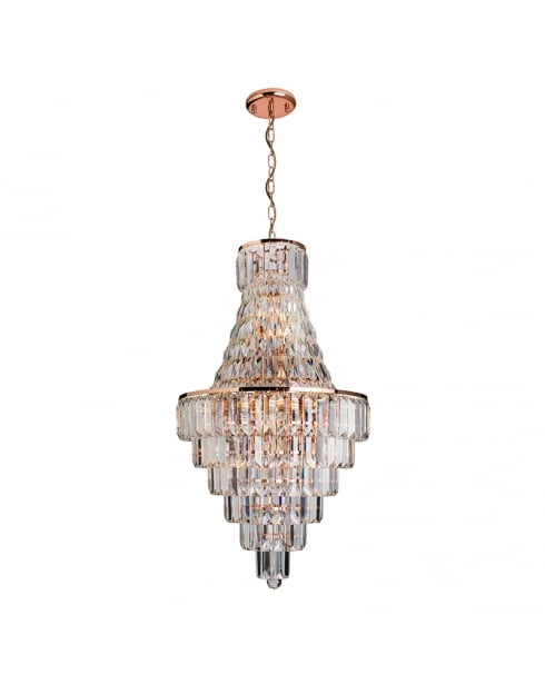 Endon Innsbruck Crystal Copper Pendant Light 61150