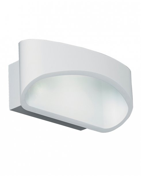 Endon Johnson Single Light Modern Decorative Wall Light JOHNSON-WH