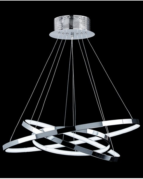 futuristic lighting. Endon Kline Futuristic Chrome LED Pendant Light KLINE-3CH Lighting