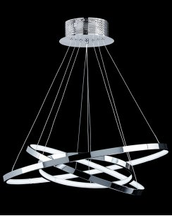 Endon Kline Futuristic Chrome LED Pendant Light KLINE-3CH