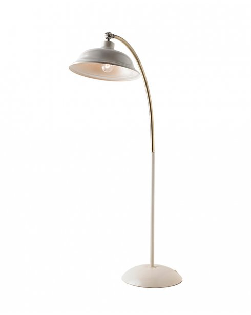 Endon Laughton Cream And Brass Floor Standing Lamp