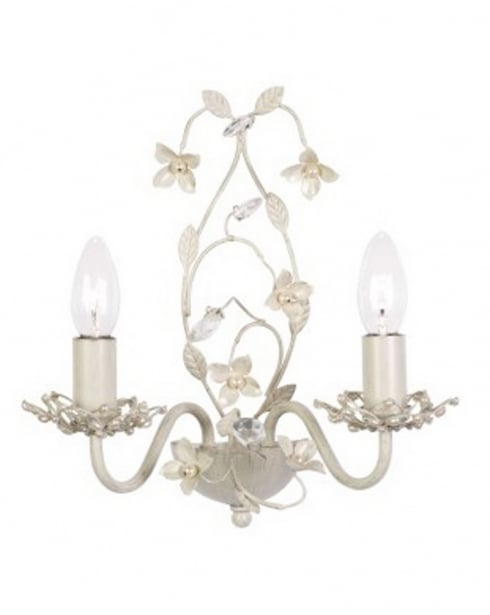 Endon Lullaby 2 Light Traditional Decorative Wall Light LULLABY-2WBCR