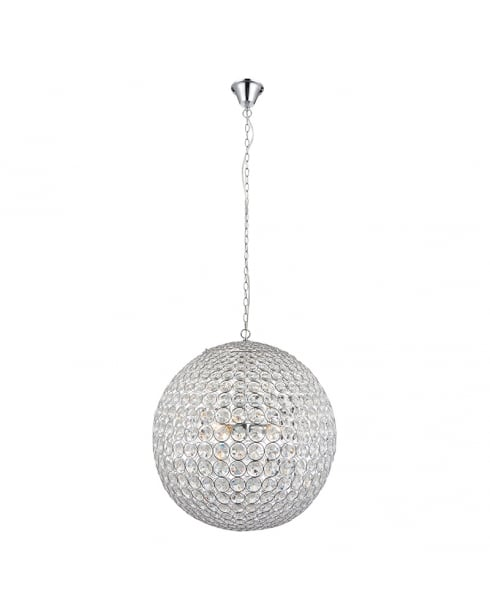 Endon Miley Crystal Chrome Pendant Light 66190