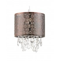 Endon Moccas Antique Brass and Crystal Pendant Shade NE-MOCCAS-AB