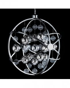 Endon Muni Single Light Modern Pendant Light MUNI-CH-L