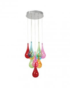 Endon Niro 10 Light Novelty Pendant Light NIRO-10MULTI