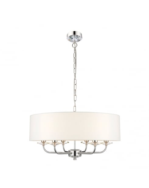 Endon Nixon Modern Nickel Multi-Arm Pendant 60179