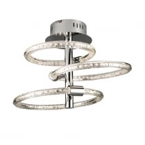 Endon Nolte Modern Chrome Semi-Flush Light 60192