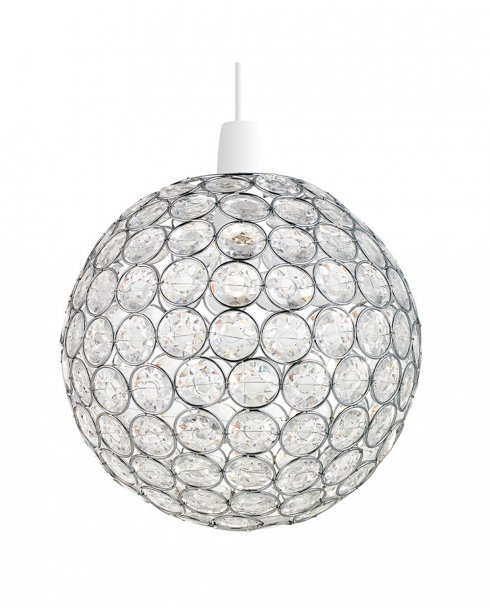 Endon Oakley Chrome and Crystal Pendant Shade NE-OAKLEY-CH