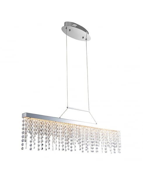 Endon Redford Crystal Chrome Pendant Light 60187