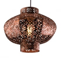 Endon Ruskin Modern Copper Non-Electric Pendant Shade 60186