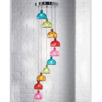 Endon Sarandon 10 Light Colourful Pendant Cluster SARANDON-10MULTI
