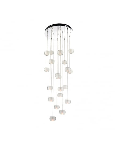 Endon Seymour Modern Chrome Pendant Light 61805
