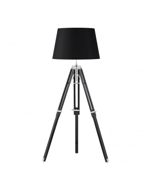 Endon Tripod Single Light Modern Standard Lamp EH-TRIPOD-FLBL
