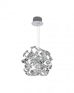 Endon Twist 9 Light Modern Pendant Light TWIST-9CH