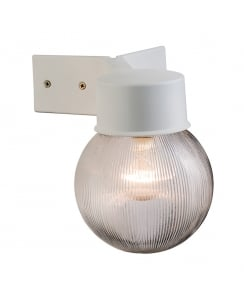 Endon Ware Modern White Porch Light 61242