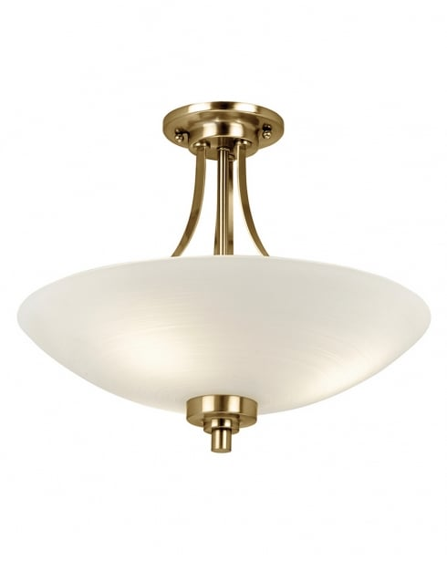 Endon Welles 3 Light Traditional Semi-Flush Fitting WELLES-3AB