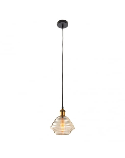 Endon Williams Modern Brass Pendant Light 61355