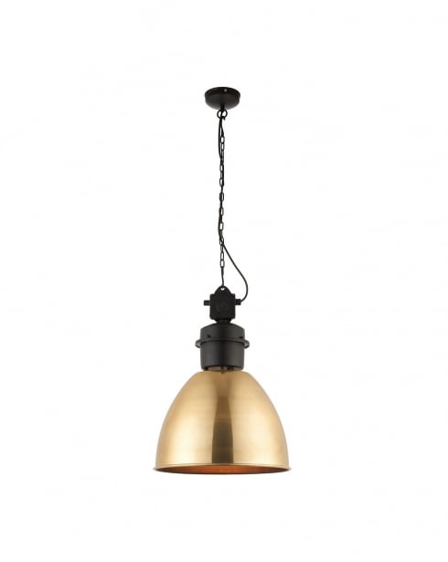 Endon Ford Modern Brass Pendant Light 69773
