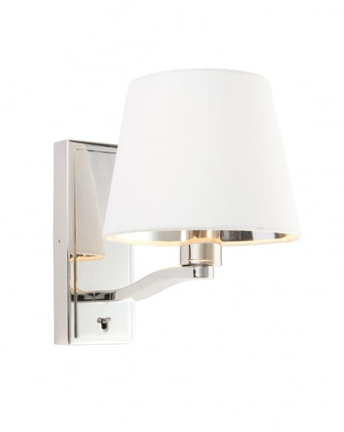 Endon Harvey Modern Nickel Decorative Wall Light 73026